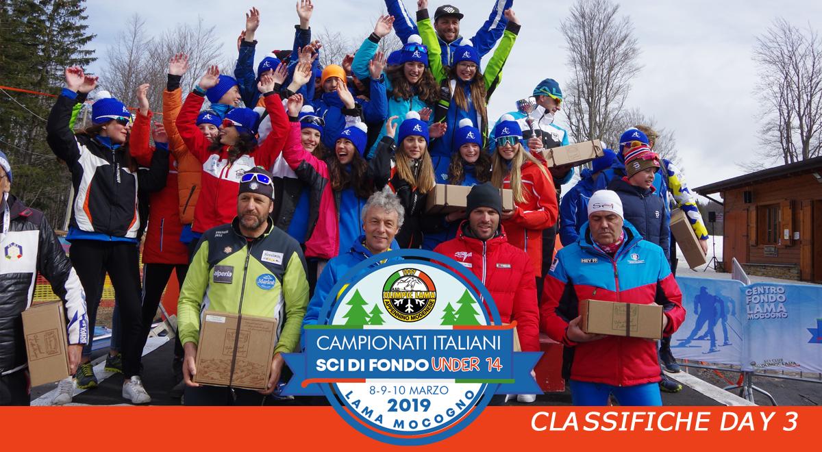 Conclusi i Campionati Italiani u14 e la Coppa Italia Sportful e U23 2019. I vicintori e le classifiche.
