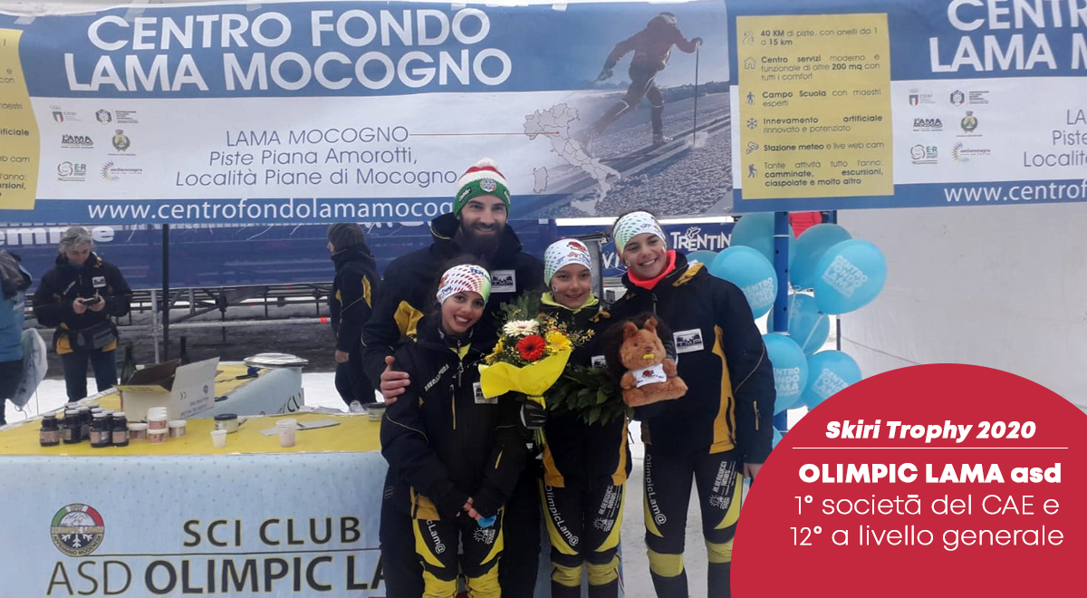 37° Skiri Trophy: Olimpic Lama si classifica 1° tra le società del CAE. Nicole Falanelli 1° classificata U10 F.
