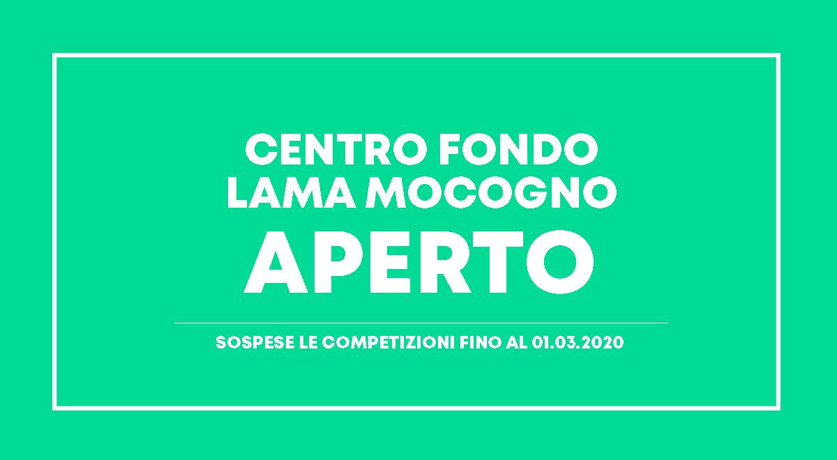 IMPIANTO APERTO MA GARE SOSPESE (FINO AL 01.03.2020)