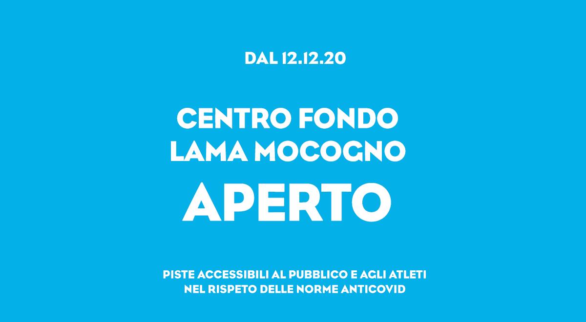 PISTE CENTRO FONDO APERTE AL PUBBLICO E AGLI ATLETI  (dal 12.12.20)