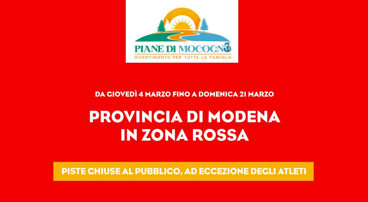 ZONA ROSSA: centro fondo chiuso al pubblico, aperto SOLO per atleti di interesse nazionale